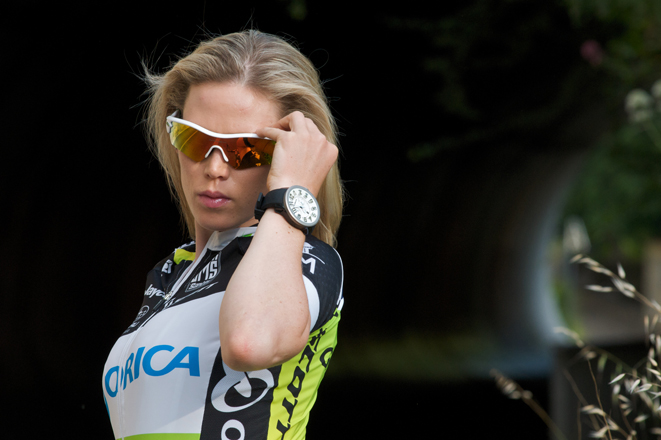 The Australian professional cyclist and designer Tiffany Jane